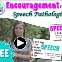 {FREEBIE} Encouragement for Speech Pathologist
